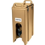 Tan Insulated Beverage Dispenser, 5 Gallon