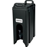 Black Insulated Beverage Dispenser, 5 Gallon