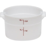 White Round Container, 2 qt.