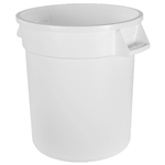 Trash 10 Gal White
