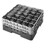 Cambro 25S434151 Glass Rack 25 Compartments 2 Extenders Gray