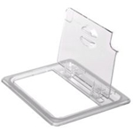 Clear Food pan Cover, 1/6 Size, Flip Lid