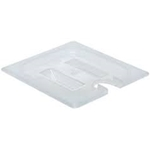 Notched Translucent Food Pan Cover, 1/6 Size