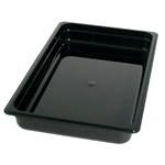 Black Food Pan, Full Size X 2\