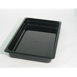 Black Food Pan, 1/2 X 2\