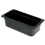 Black Food Pan, 1/3 X 4\