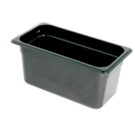 Black Food Pan, 1/3 X 6\