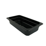 Black Food Pan, 1/4 X 2\