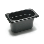 Black Food Pan, 1/9 X 4\