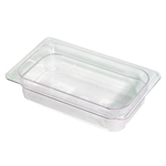 Clear Food Pan, 1/4 X 2\