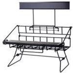 Winco APRK-3 Three Compartment Wire Airport Rack